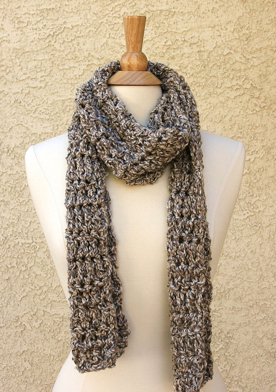 WINTER SHORE - Very Soft Scarf - multicolor creamy beige, gray and white by www.behindmypicketfence.com