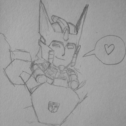 Quick sketch of Drift to cheer up rungs-eyebrows and nospear.  Hope they're feeling better!  :)