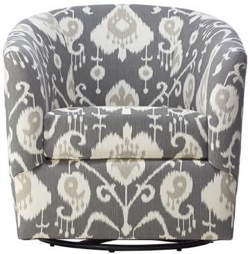 Custom Colin Upholstered Swivel Chair   Swivel Chairs   Upholstered Chairs    Living Room Chairs