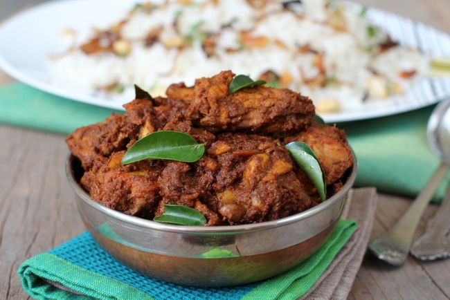 There are quite a few chicken dishes among Mangalore recipes. But a culinary gem among them all is the Chicken Ghee Roast. Goes well with ghee rice.