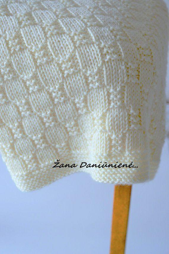 Easy Blanket PATTERN, schriftliche Anweisungen mit Diagramm   – Gestricktes Baby