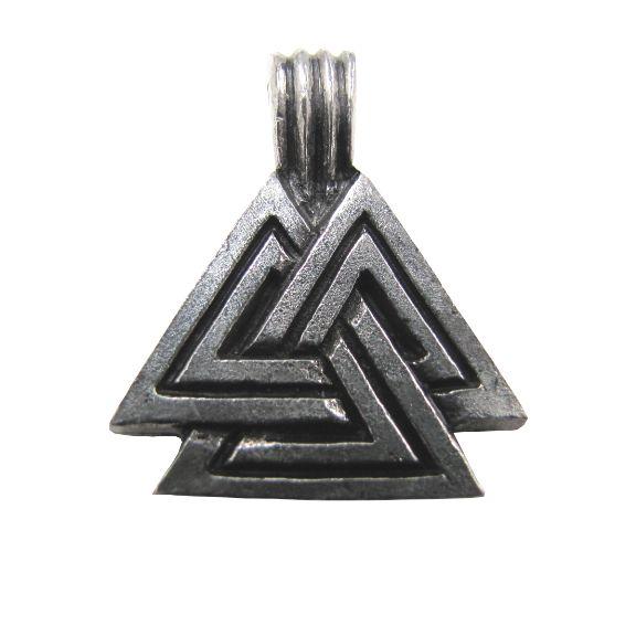 Large Valknut, Symbol of Odin Necklace