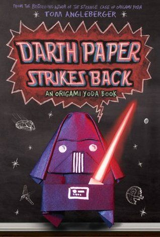 An Origami Yoda Book #2: Darth Paper Strikes Back By Tom Angleberger FIC ANG Harvey, upset when his Darth Paper finger puppet brings humiliation, gets Dwight suspended, but Origami Yoda asks Tommy and Kellan, now in seventh grade, to make a new casefile to persuade the School Board to reinstate Dwight.