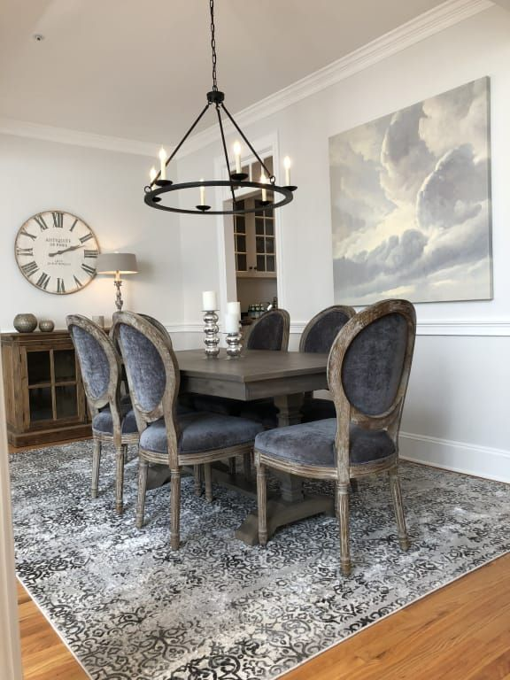Coal Paige Round Back Dining Chairs Set