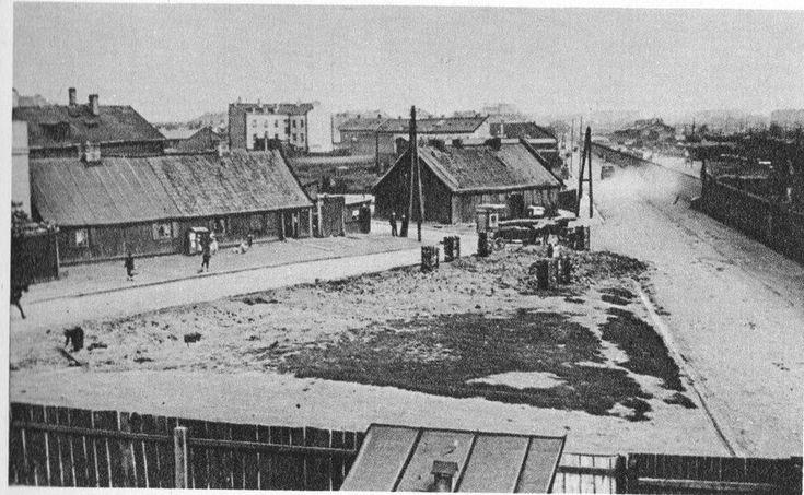 Ulica Prądzyńskiego na Woli w roku 1935.