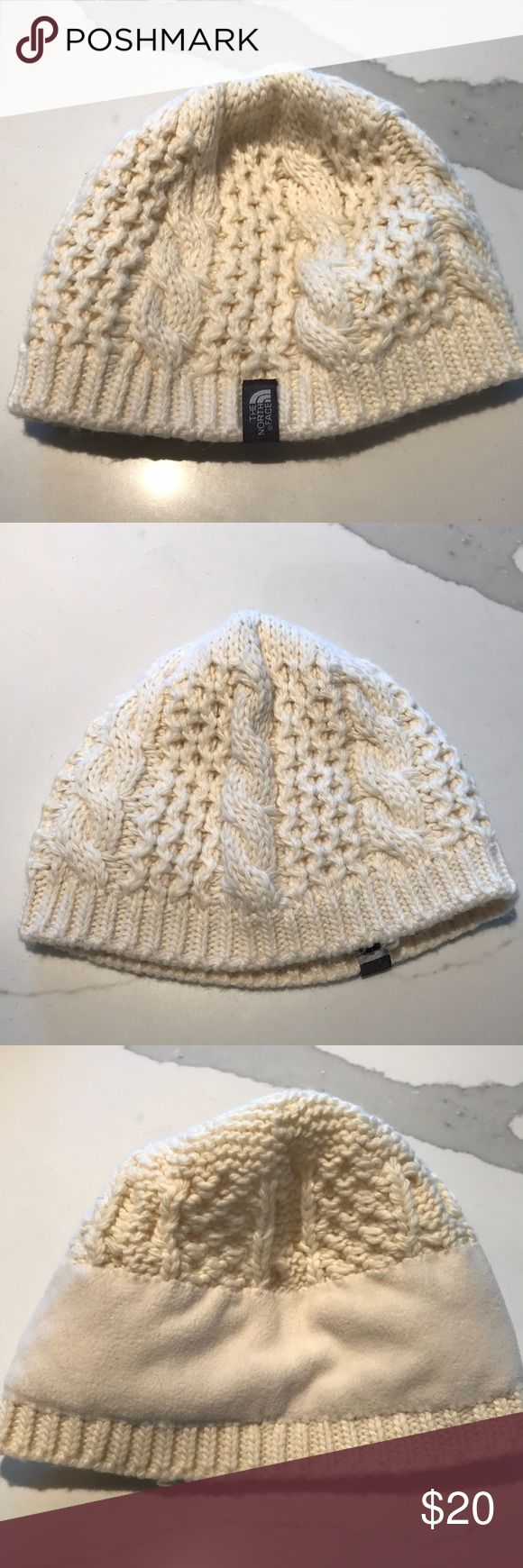 The North Face - Knit Cream Beanie w/ Fleece liner Super cute and super warm. The North Face fleece lined beanie. Looks like new. Super soft and not itchy at all. The North Face Accessories Hats