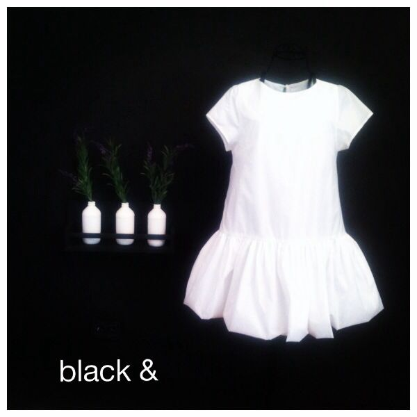 Delicate white dress from our Black & White Spring Capsule Collwction!