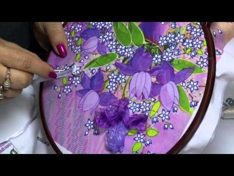 How to make sequins beaded flower applique motif Handmade craft - YouTube