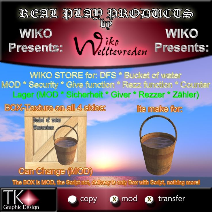 WIKO STORE for DFS * Bucket of water * MOD * Security * Give function * Rezz function * Counter