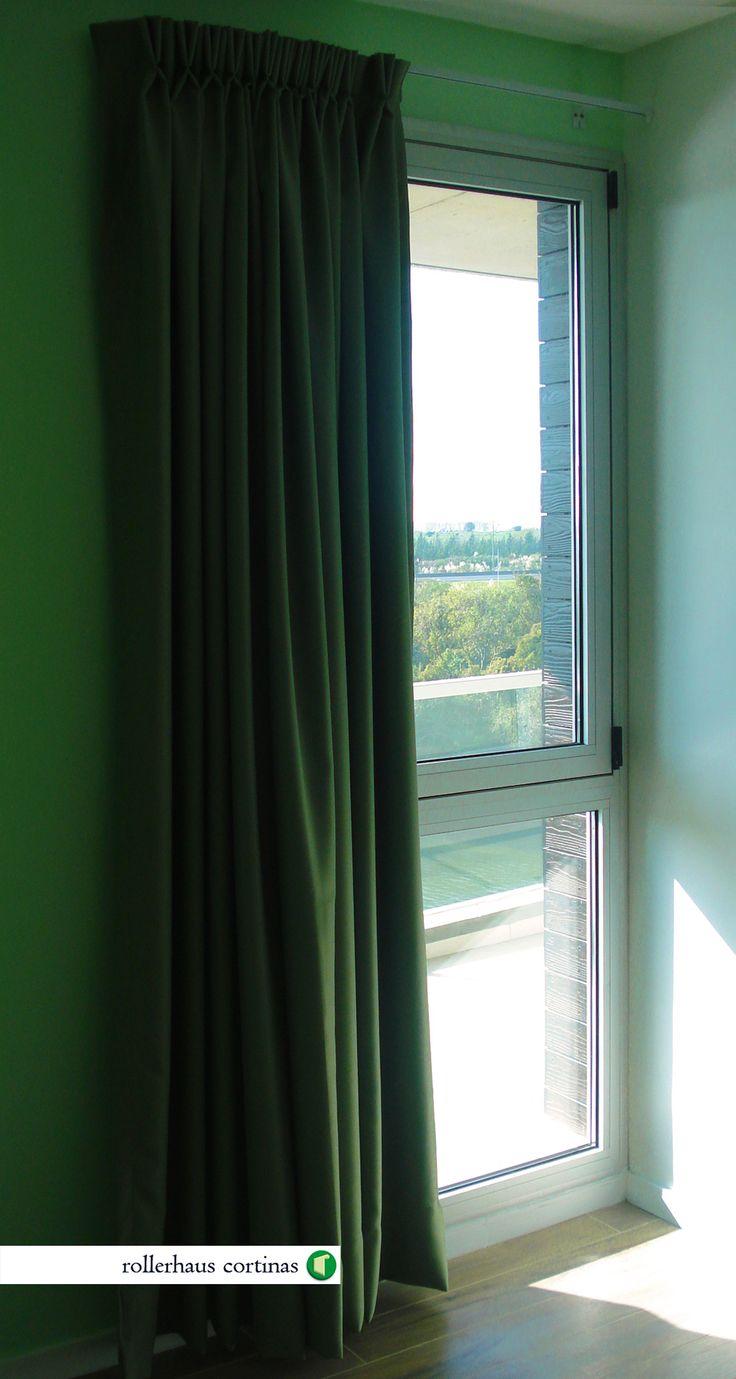 Cortina Plisada de Tela Blackout color verde. Cubrí perfectamente la luz para un descanso perfecto. https://www.facebook.com/rollerhauscortinas Asesoramiento y presupuestos sin cargo en rollerhauscortinas@outlook.com