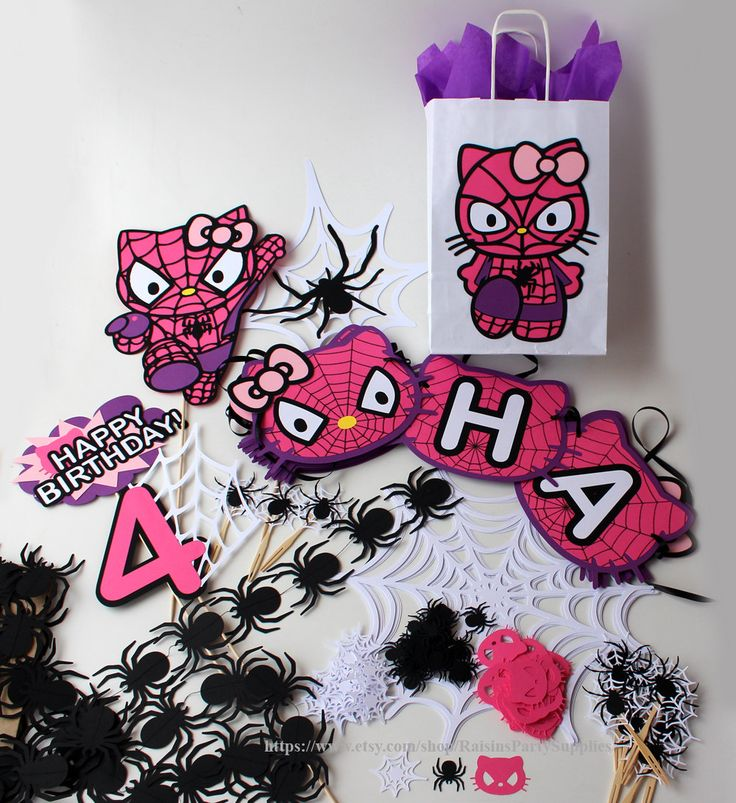 Hello Kitty spider birthday party decorations kit Kitty Spiderman party birthday banner Superhero girl party pink purple Party supplies #babyshowerideas4u #birthdayparty  #babyshowerdecorations  #bridalshower  #bridalshowerideas #babyshowergames #bridalshowergame  #bridalshowerfavors  #bridalshowercakes  #babyshowerfavors  #babyshowercakes