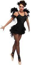 Black Swan Gothic Ballerina Dancer Fancy Dress Up Halloween Sexy Adult Costume