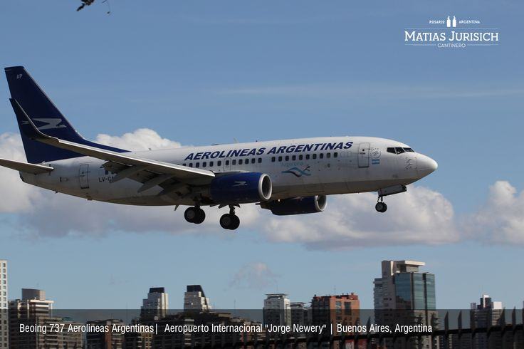 """Boeing 737 Aerolineas Argentinas aproximando por la pista 31 de Aeroparque   Aeropuerto Internacional """"Jorge Newery""""   Buenos Aires, Argentina"""