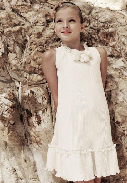 Monnalisa Chic, vestidos para niñas para ceremonias u ocasiones especiales, colección de verano de Monnalisa