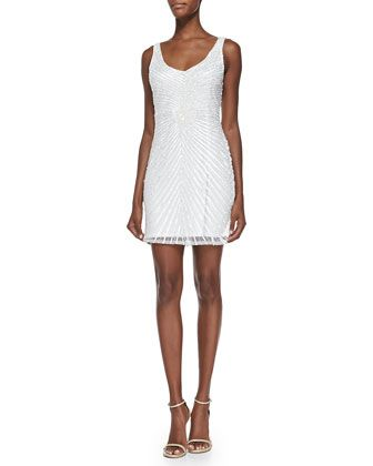 Sleeveless+Sequined-Pattern+Cocktail+Dress+by+Aidan+Mattox+at+Neiman+Marcus.