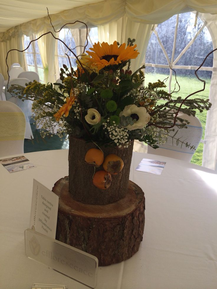 Table decoration supplied by Efflorescence Florist Barrow in Furness