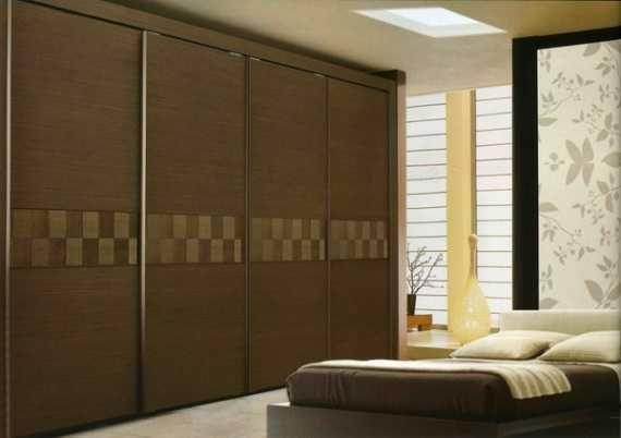 Brown Wooden Sliding Closet Door Sliding Closet Doors for Bedrooms in Some Styles
