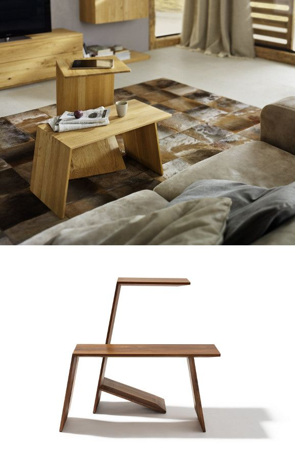 Wooden coffee table SIDEKICK by TEAM 7 | #design Stefan Radinger @team7