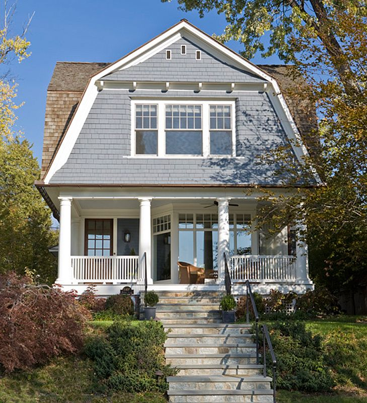 142 best american architecture images on pinterest for Gambrel gable
