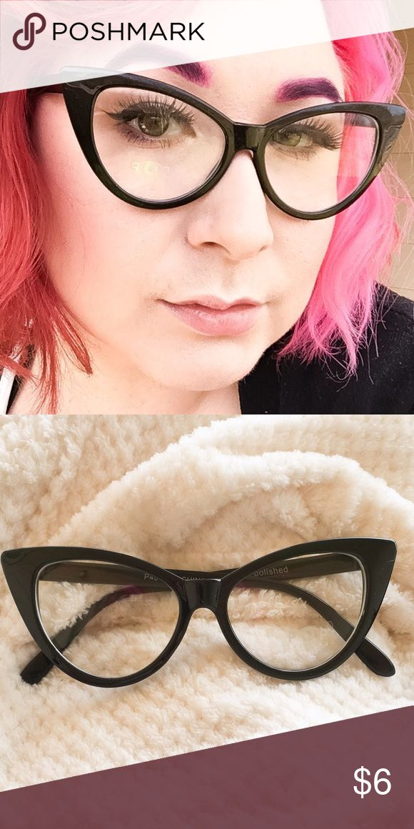 """Cat Eye Rockabilly Eyeglasses 💖Features: Great for Valentines Day for that Rockabilly Pinup Girl. ⭐️Plastic  ✨Condition: New  🎨Color: Black 🎀Size: One Size ✂️Measurements Approximately: Width 6"""" x Height 2"""" 📬Shipping: Well ship next business day. 💰Discount: Save $$ when you bundle! POP Eyewear Accessories Glasses"""