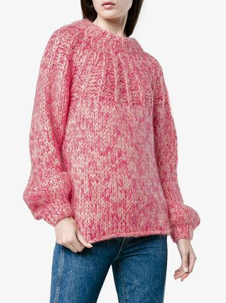 Ganni Julliard bow back mohair jumper  7e80df207