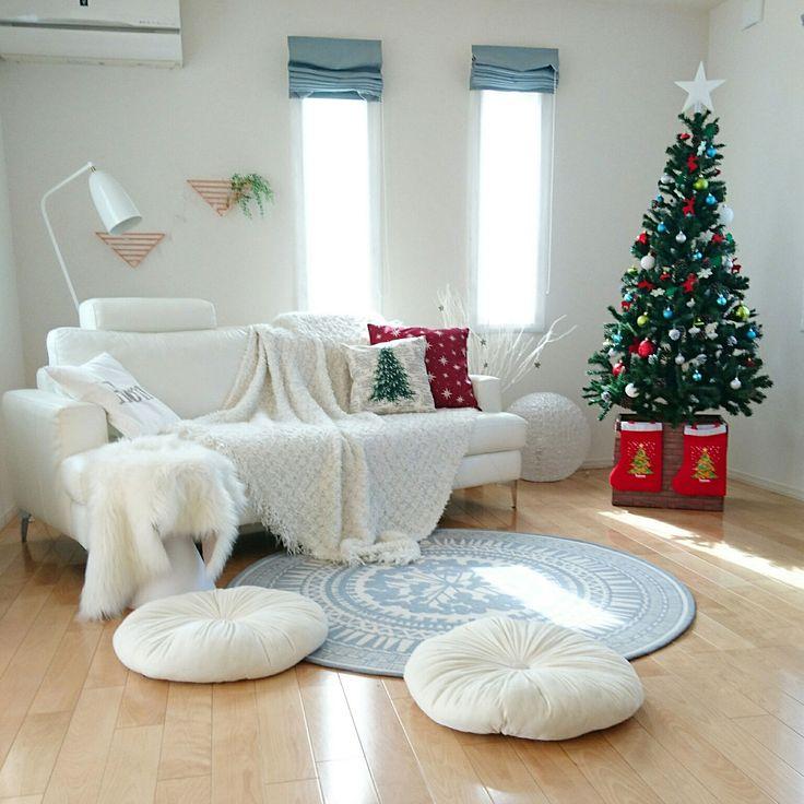 IKEA/ムートンラグ/丁寧な暮らし/北欧ナチュラル/クリスマスツリー180cm/クリスマスツリー…などのインテリア実例 - 2017-11-07 18:28:11 | RoomClip(ルームクリップ)