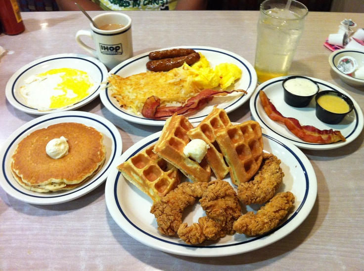 ... iHop: Chicken & Waffles and a Tropical Island Twist for me. Yummz