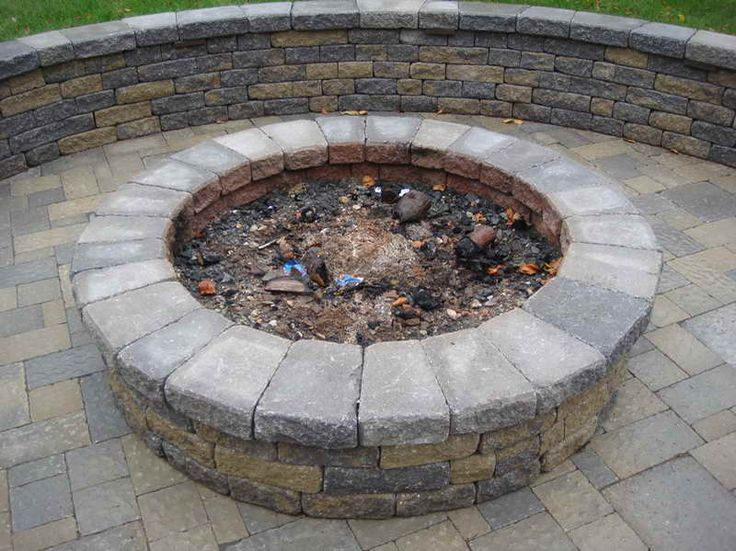 Superb Out Door Fire Pits | The Choice Of Outdoor Fire Pit Kits With The Stone  Blocks