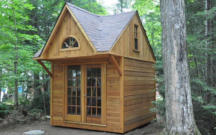 Tiny Home Designs: Our Very Popular Permit-free Cottage Bunkie! Loft Upstairs