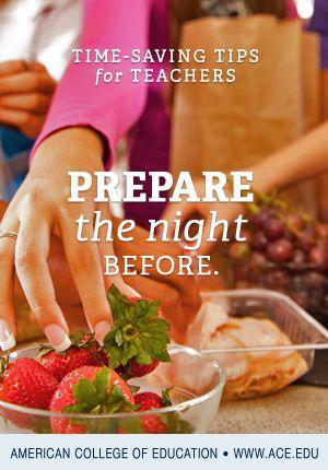PREPARE the night BEFORE