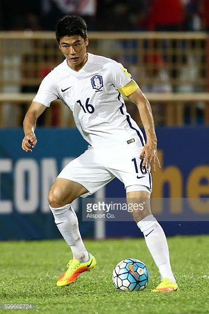 Ki Sung Yueng of South Korea in action during the 2018 FIFA World Cup Qualifier Final Round Group A match between Syria and South Korea at The Tuanku...