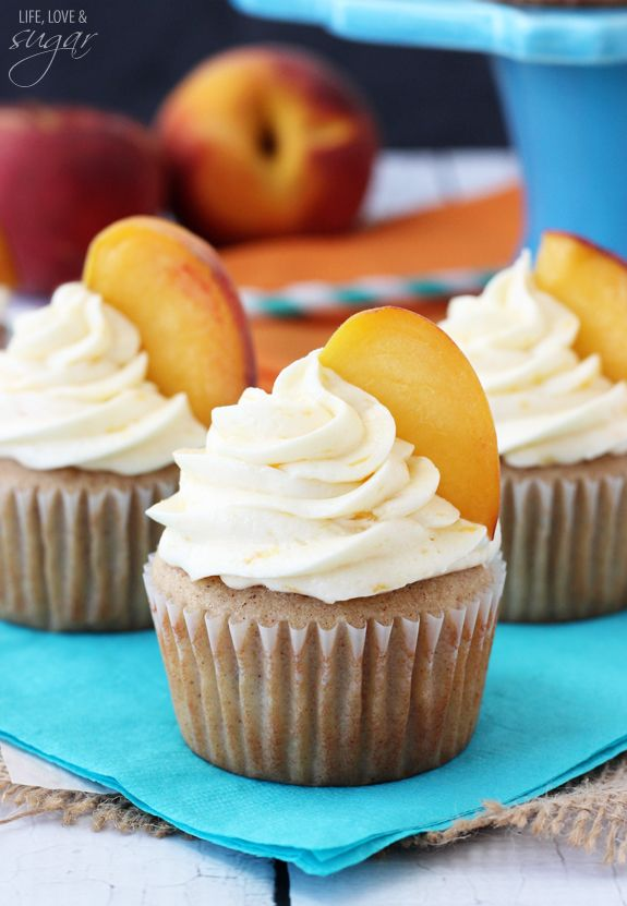 Pfirsich-Torte Cupcakes