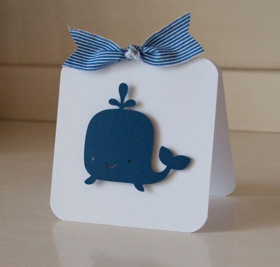 Invitación de Baby Shower para niño con ballena