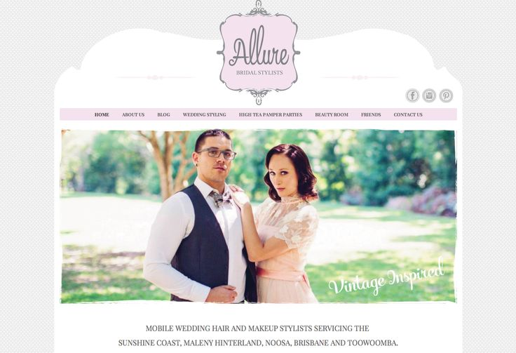 Website design, development and digital marketing (including social networks) for Allure Bridal Stylists http://allurehairandbeauty.com Designed and developed by Piece x Peace www.piecexpeace.com
