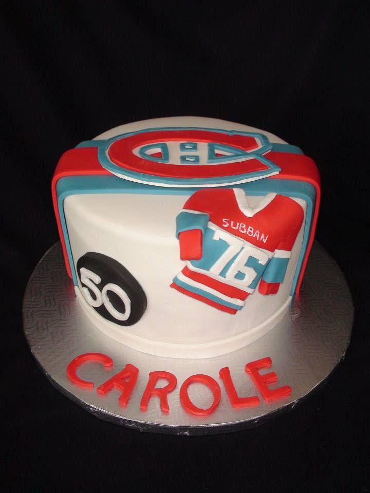 hockey canadian pk subban cake creation Maman gateau