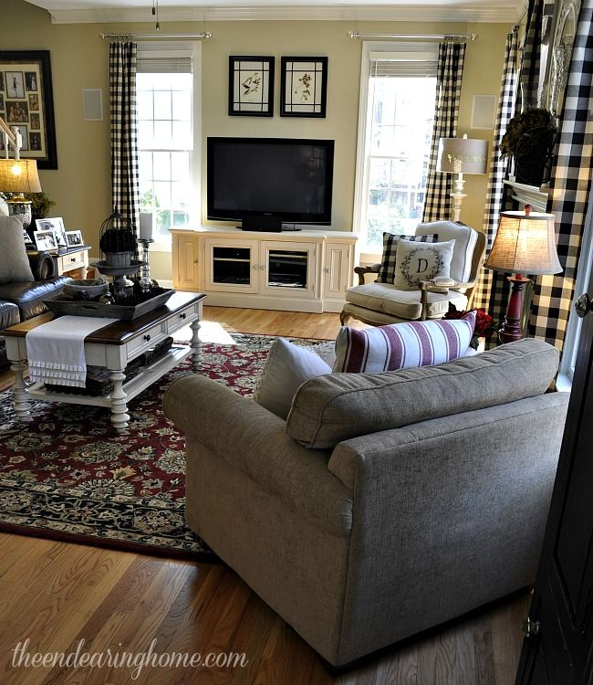 Plaid Furniture Country Living Room: 47 Best PLAID COUNTRY CURTAINS Images On Pinterest