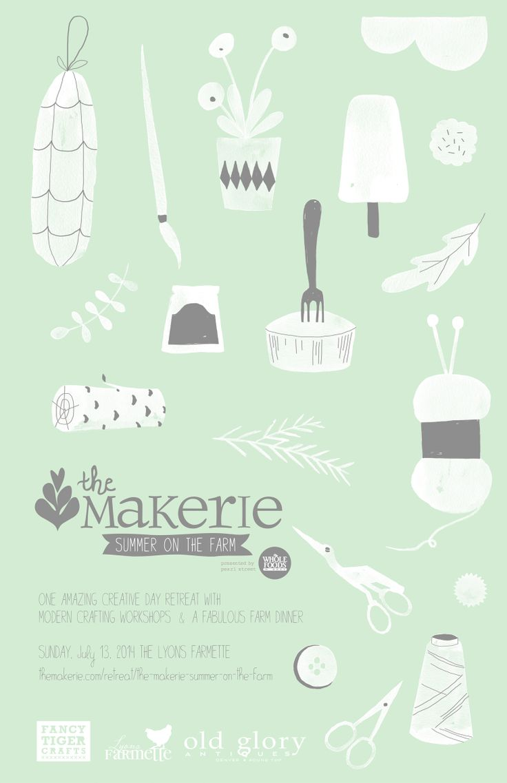 our Makerie Summer on the Farm poster designed by Studio Meez #makeriesummer