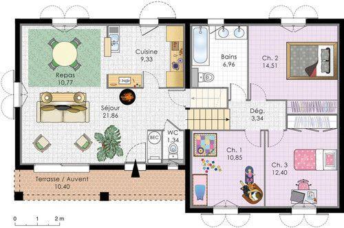 Villa à énergie positive - Détail du plan de Villa à énergie positive | Faire construire sa maison