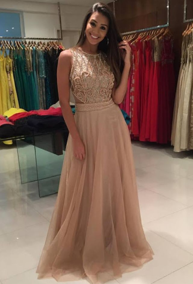 A-Line Beading Charming Prom Dress,Long Prom Dresses,Prom Dresses,Evening Dress, Evening Dresses,Prom Gowns, Formal Women Dress