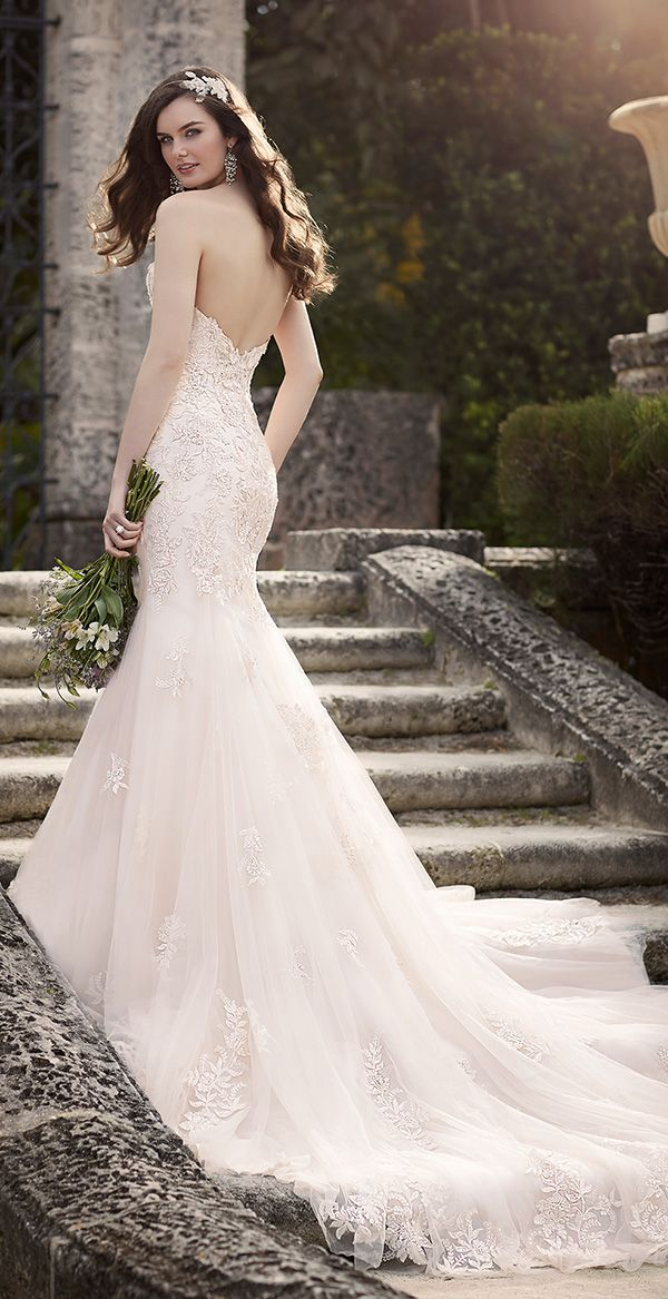 silver lace over satin mermaid wedding dresses 2016 from essense of australia