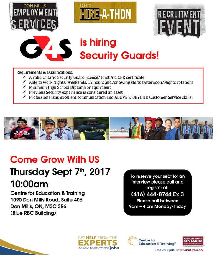 264 best The Centre For Education And Training images on Pinterest - g4s security officer sample resume