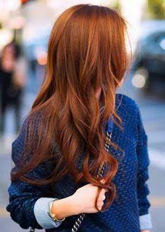 cabello pelirrojo cobrizo Otoño Invierno                                                                                                                                                                                 Más