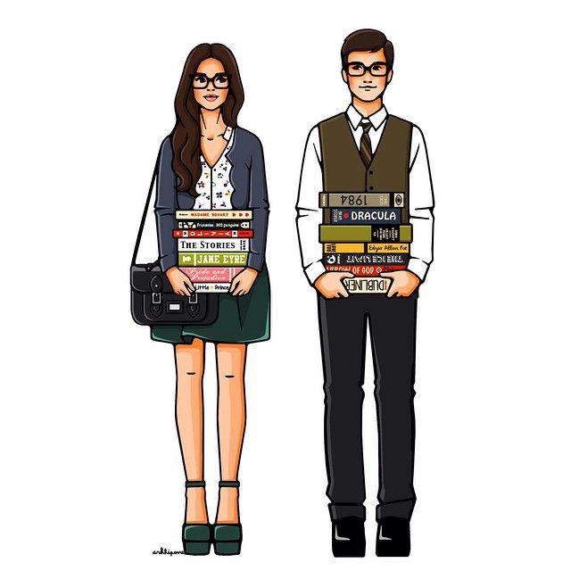 — Мы не можем с тобой быть вместе. У нас нет ничего общего. — У нас масса общего! Ты любишь спагетти с тефтелями, и я их обожаю. А чтение? Давай поговорим о чтении! Я читаю слева направо, а ты? Почему это не общее?(с) #girlsinbloom #illustration #fashionillustration #art_fashion #цитата #иллюстрация #книги #любовь #арт #студенты #учеба #мгу #мгимо #университет Оформить заказ можно на сайте или по телефону +7 910 013 74 13 (SMS/WhatsApp).
