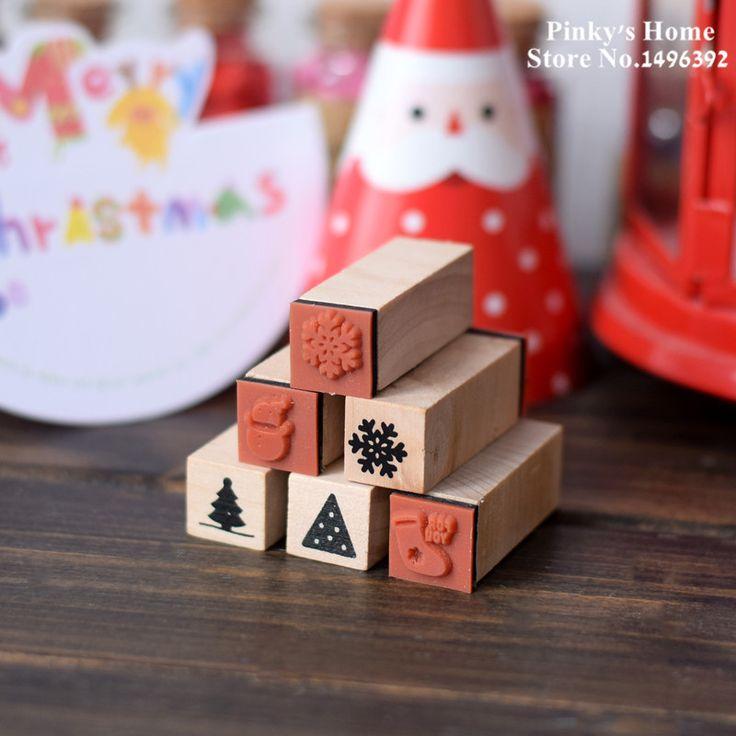 Рождество Дерево Stamp Ручной Работы DIY Чернила Pad Штамп Набор для Скрапбукинга Набор Канцелярских Принадлежностей