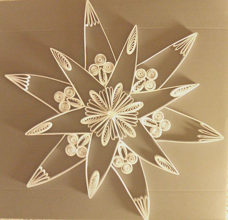 "a new star is born. I called him '' white star of Lünen 1"" copy: modul system of Karen- Marie Klip 38 cm"