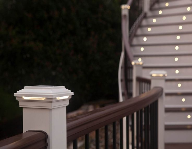 Keep Your Deck Safe At Night With Trexu0027s Deck Rail Lights And Post Cap  Lights.