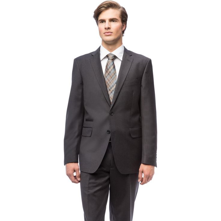 Men's Charcoal Slim Fit Suit with Fancy Lining and Ticket Pocket