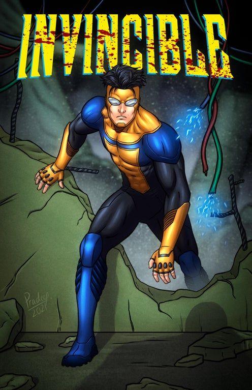 Here's my fanart of-- : Invincible Superhero Stories, Best Superhero, Reginald Veljohnson, Comic Book Characters, Comic Books, Amazon Tv Series, Kevin Michael Richardson, Invincible Comic, Malese Jow