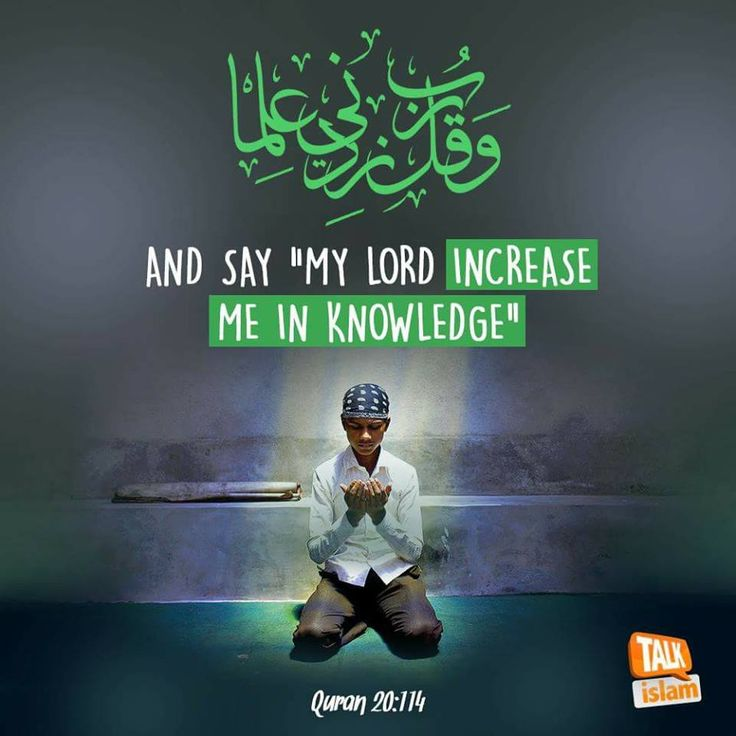"""Beautiful Islamic Quotes - And say """"My Lord, increase me in knowledge"""" 
