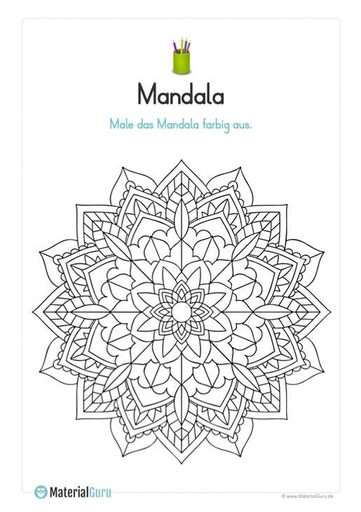 Ein Kostenloses Mandala Zum Ausmalen Fur Den Fruhling Fur Kinder Jetzt Kostenlos Downloaden Mandala Ausmalen Ausmalen Kinder Malbuch